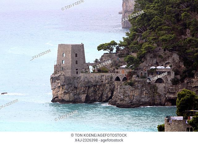 Sorrento town at the amalfi coast near naples