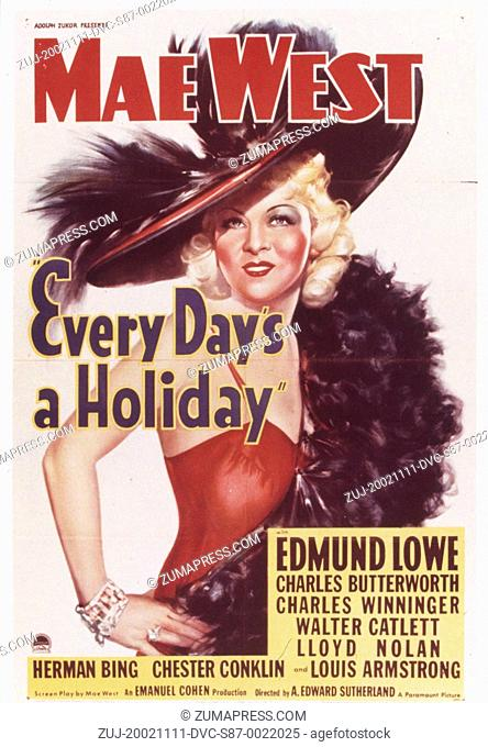 1938, Film Title: EVERY DAY'S A HOLIDAY, Director: A EDWARD SUTHERLAND, Studio: PARAMOUNT, Pictured: A EDWARD SUTHERLAND