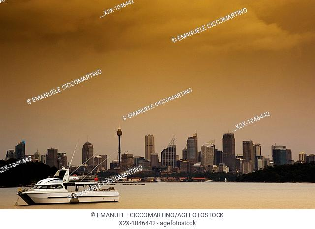 City of Sydney seen from Parsley Bay, New South Wales, Australia