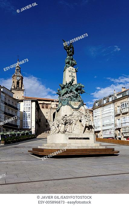 Virgen blanca square, Vitoria, Alava, Spain