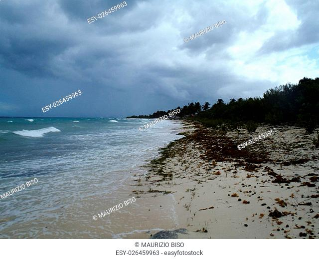storm front coming in Maria La Gorda, Cuba