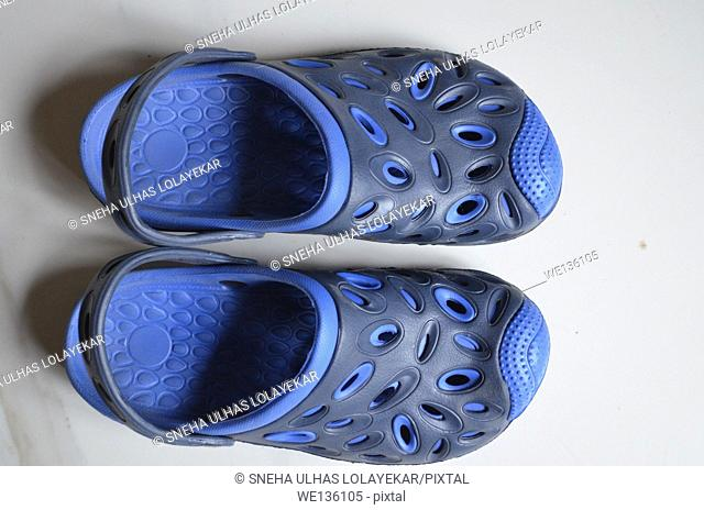 Rubber Blue floater sandals, Poona,Mahrshtra,India
