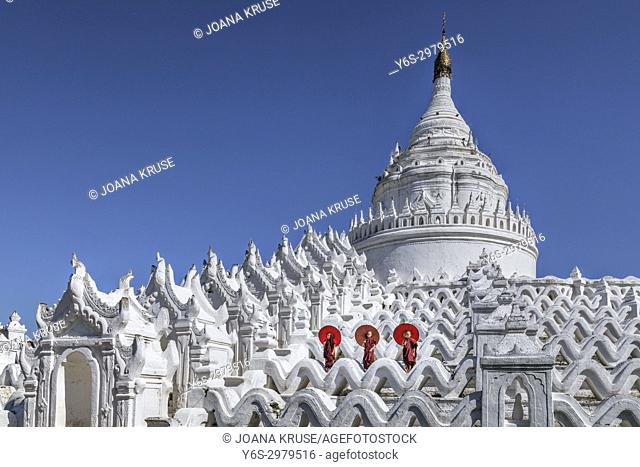 Mingun, Hsinbyume Pagoda, Mandalay, Myanmar, Asia
