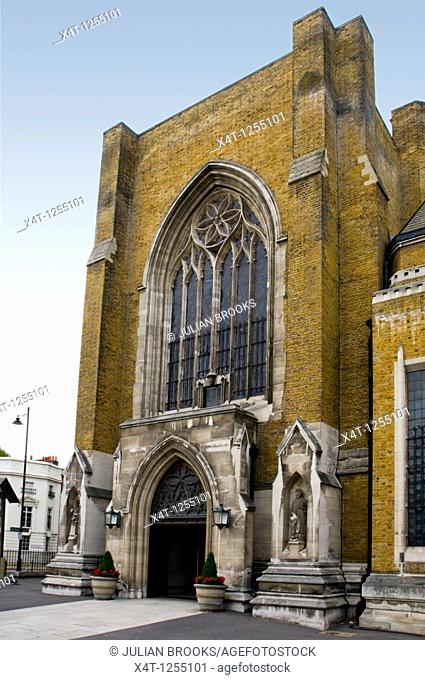 St, George's Catholic Cathedral, Southwark, entrance on the Lambeth Road