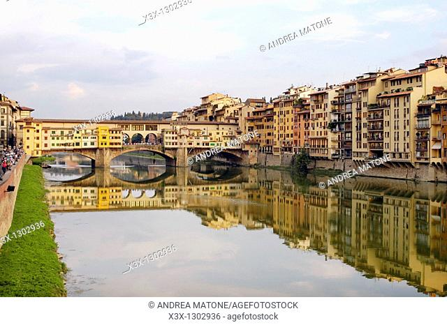 Pontevecchio over the Arno river Florence Italy