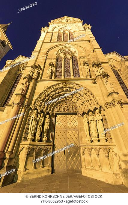Church of Our Lady at night, World Heritage Site, Trier, Rhineland-Palatinate, Germany