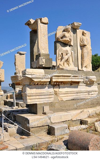 Ancient Ephesus Turkey Kusadasi Aegean Mediterranean