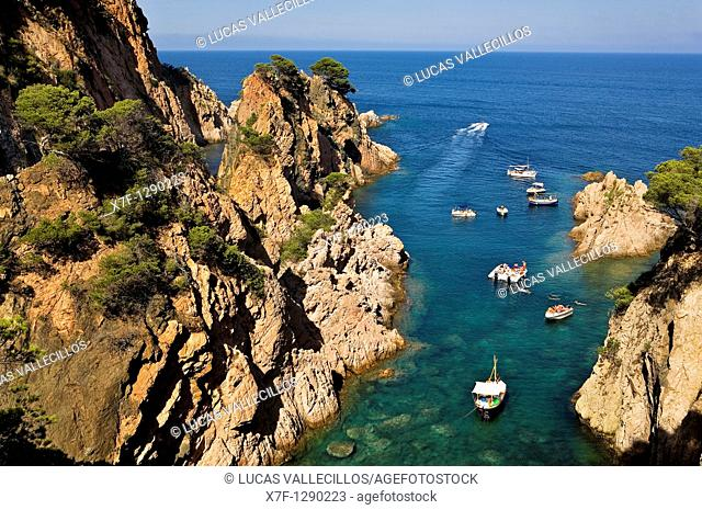 Aigua Xelida, near Tamariu. Costa Brava, Girona province, Catalonia, Spain