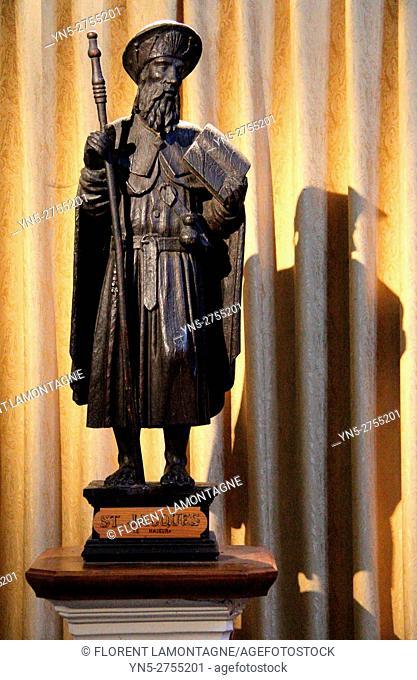 Statue of Saint Jacques, Auvillar, Aude, Tarn et Garonne, Occitanie