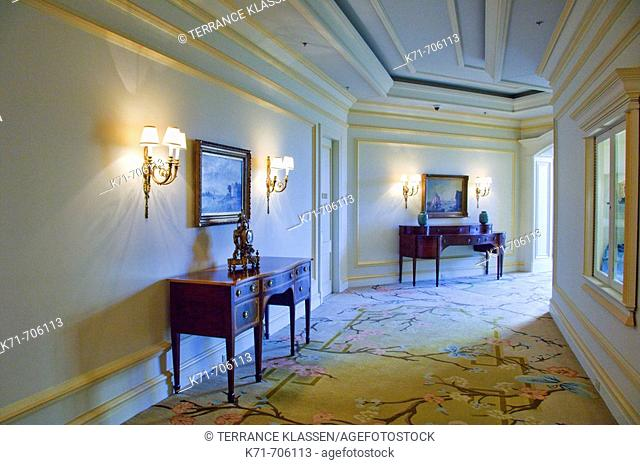 Interior furnishing at the Ritz-Carlton resort in West Palm Beach, Florida, USA