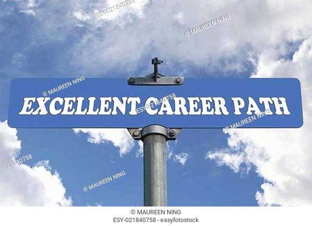 Excellent career path road sign