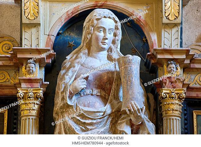 France, Jura, Baume les Messieurs, labeled Les Plus Beaux Villages de France The Most Beautiful Villages of France, the abbey of Saint Pierre