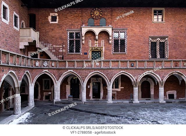Krakow, Poland, North East Europe. Collegium Maius is Jagiellonian University's oldest building