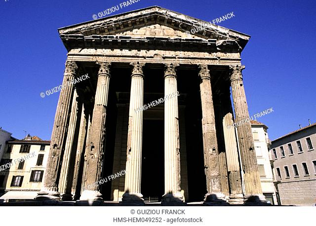France, Isere (38), Vienne, 1st century BC temple of Augustus and Livia