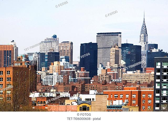 USA, New York State, New York City, Manhattan, Cityscape with skyscrapers