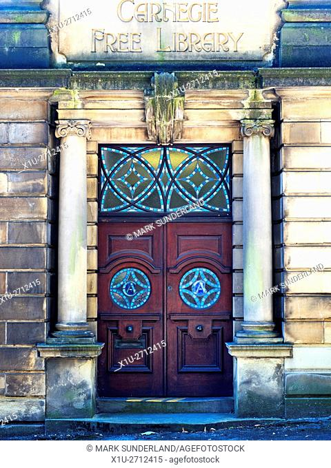 Old Carnegie Free Library Building at Penistone South Yorkshire England