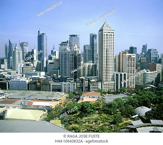 10643832, Greenbelt Square, Makati District, Manila, park, Philippines, Asia, skyline