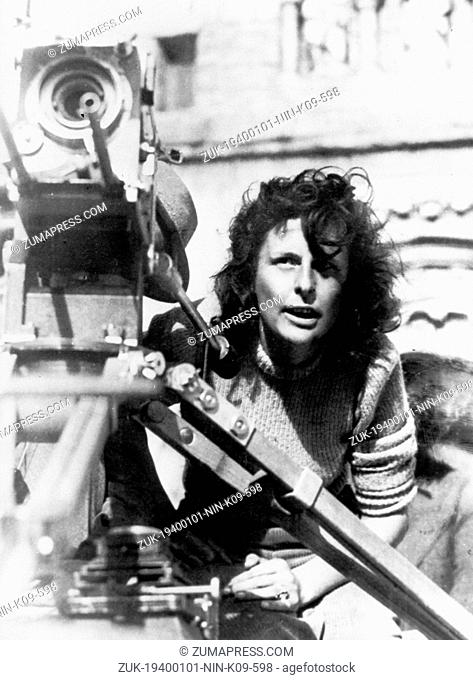 Jan. 1, 1940 - Munich, Germany - Controversial film-maker LENI RIEFENSTAHL, who made the Nazi propaganda film Triumph of the Will pictured during shooting...