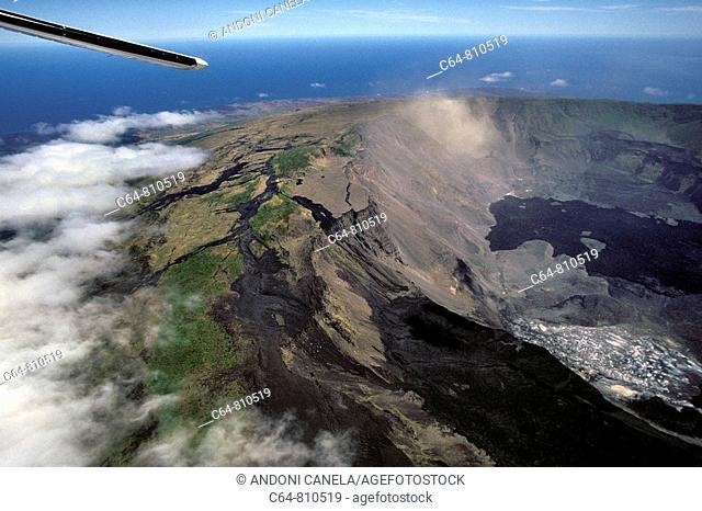 Cerro Azul volcano, Isabela Island, Galapagos Islands, Ecuador