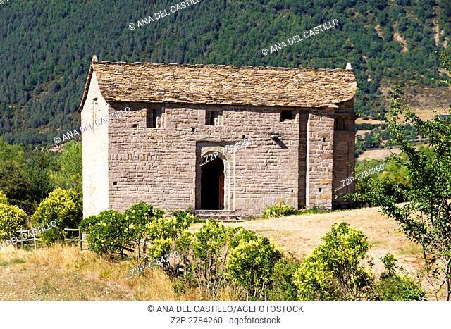 San Juan de Busa romanesque chapel in Serrablo route Tena valley Huesca Aragon Spain