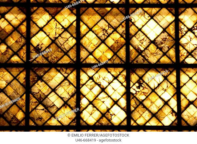 Abstract detail of a window in Zaragoza  Spain