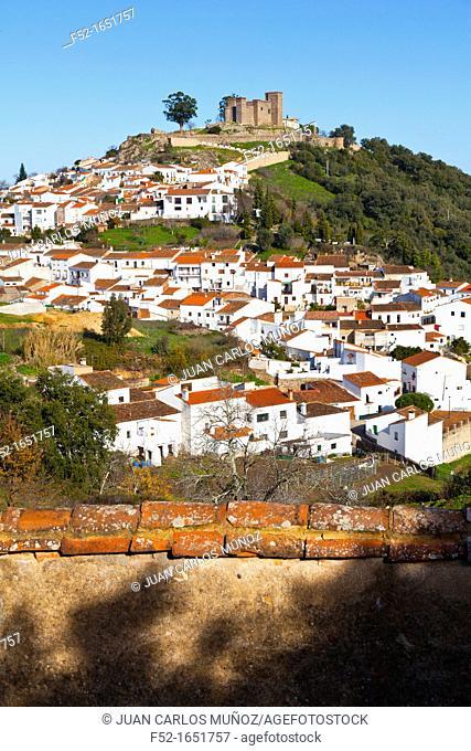 Cortegana village, Sierra de Aracena Natural Park, Huelva, Andalucia, Spain, Europe