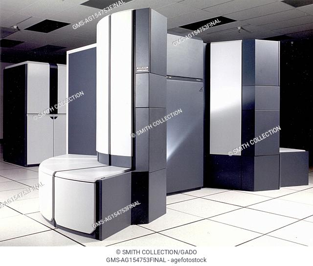 Cray Y 190A Supercomputer at the NASA Ames Research Center, Silicon Valley, Mountain View, California, 1990. Courtesy NASA