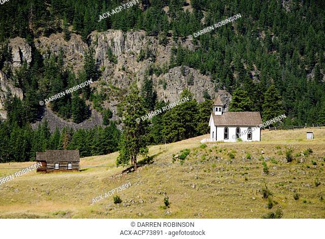Heritage buildings, Hedley, British Columbia, Canada