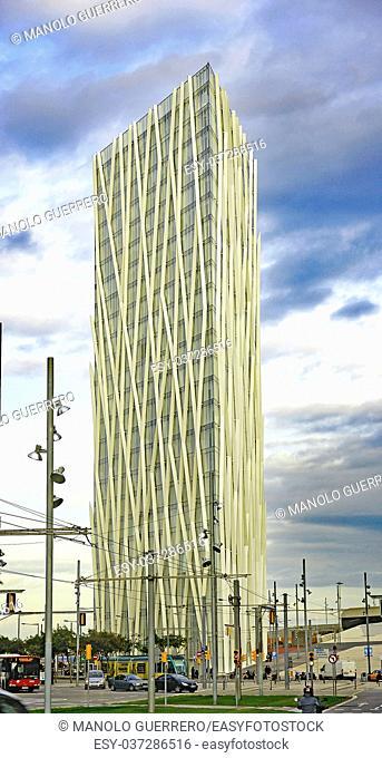 Diagonal 00 Building in the Parc Forum, Barcelona, Catalunya, Spain