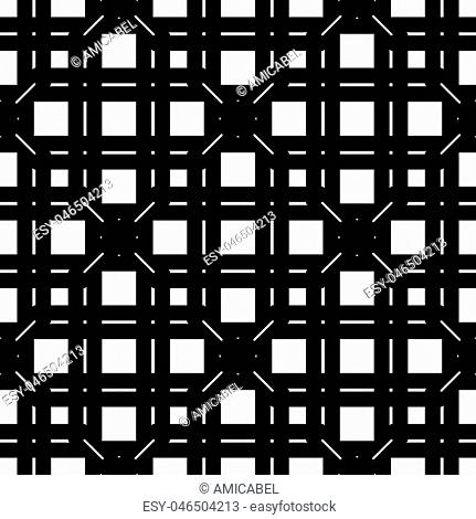Design seamless monochrome grating pattern. Abstract background. Vector art