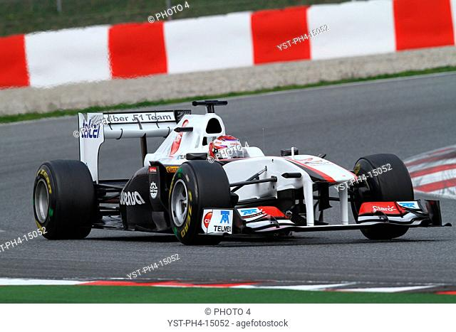 Kamui Kobayashi, Testing, Circuit de Catalunya, Barcelona, Espanha