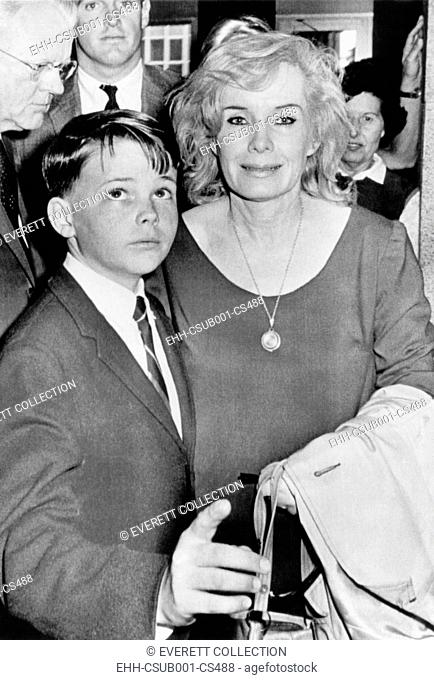 Candace Mossler and her son Edward during her trial for the murder of her husband, Jacques. Jan. 1967. The prosecution's circumstantial case against Mossler and...