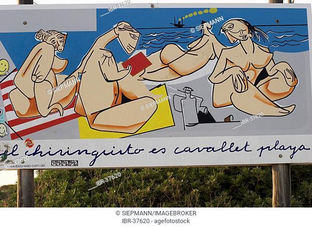 Bar El Chiringuito at Platja des Cavallet in Ibiza
