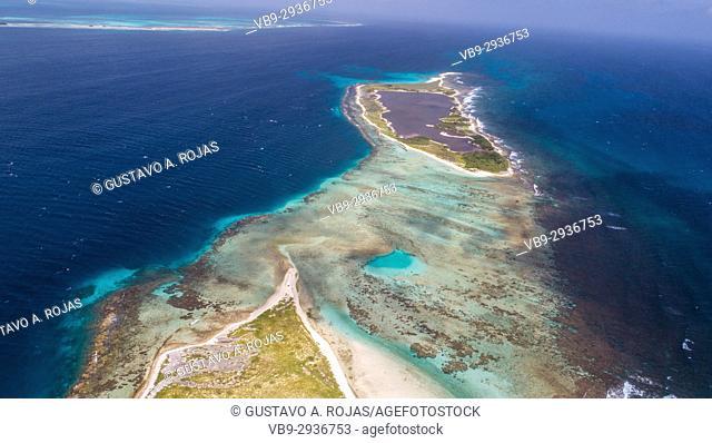 Aerial View cankys los roques venezuela