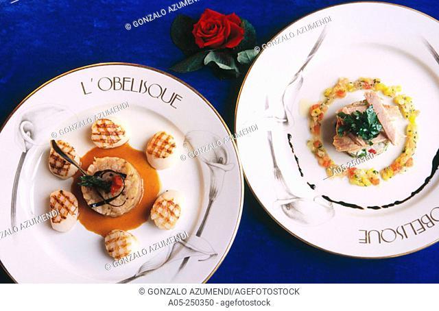 Meals. Restaurant l'Obélisque. Hotel Crillon. Paris. France