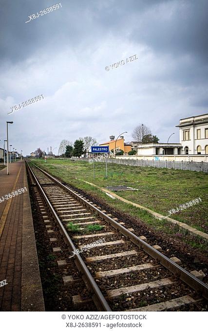 Italy, Palestro, railway station