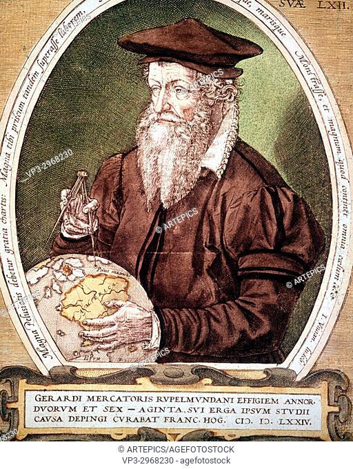 Portrait de Gerhard Kremer a. k. a Gerardus Mercator