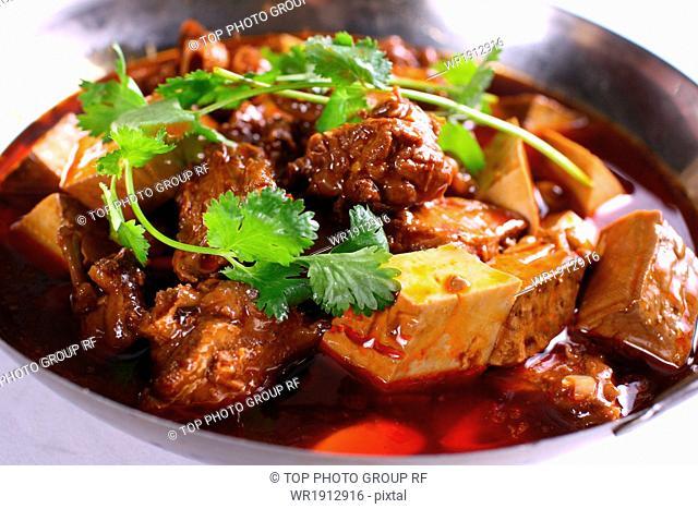 fried duck meat