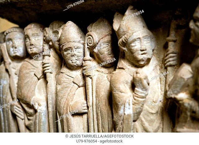 Grave of Doña Urraca. Cañas Monastery. La Rioja. Spain