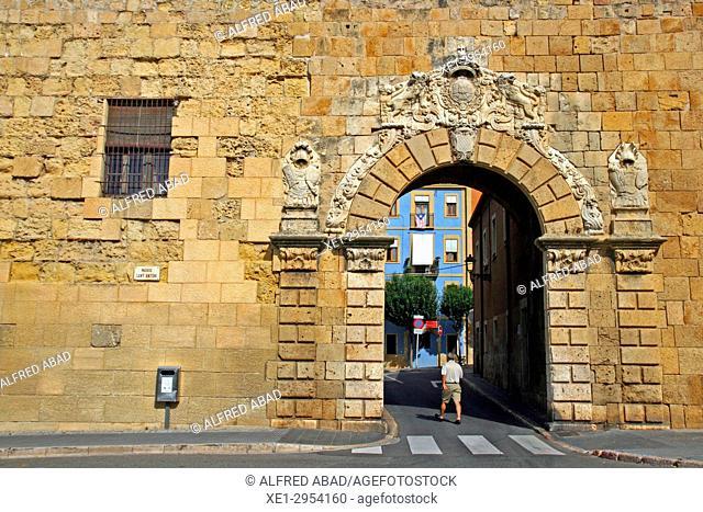 entrance door on the Roman wall, Tarragona, Catalonia, Spain