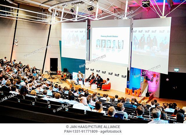 BAYREUTH/GERMANY - JUNE 21: (l-r) Christoph Räthke (GTEC) moderates a panel discussion with Alexander von Preysing (Deutsche Börse Group)