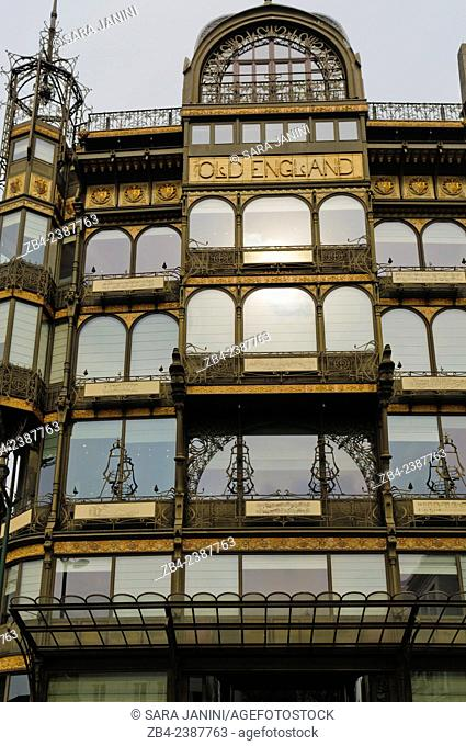 The Musical Instrument Museum (MIM) in the former Old England department store, built in 1899 by Paul Saintenoy out of girded steel and glass in the art nouveau...