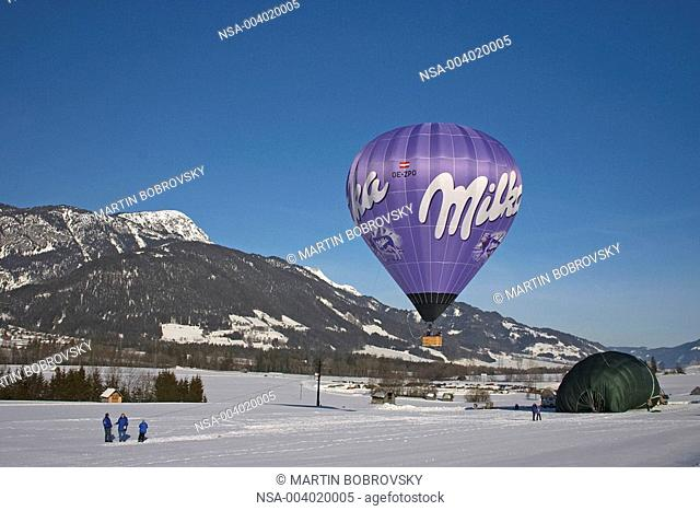 hot-air balloon Milka