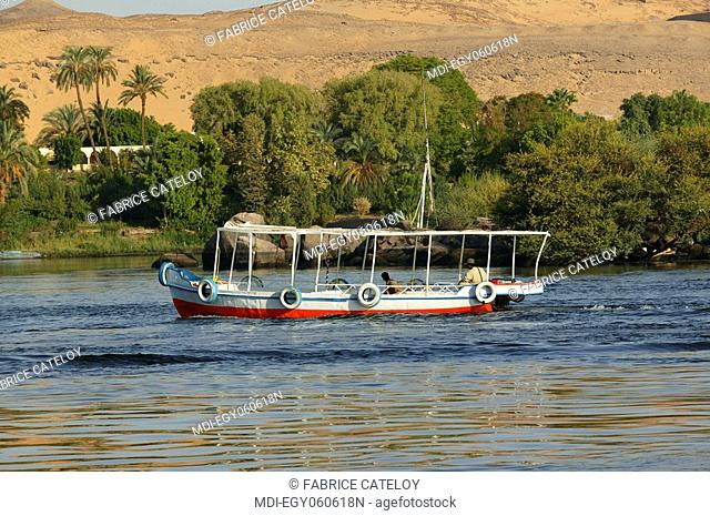 Motorboat on the Nile