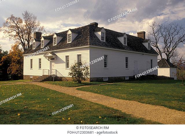 Blacksburg, VA, plantation, Virginia, Historic Smithfield Plantation House in autumn in Blacksburg