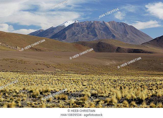 Chile, South America, near Paso Vizcacha, San Pedro de Atacama, Altiplano, Antofagasta, landscape, South America, dese