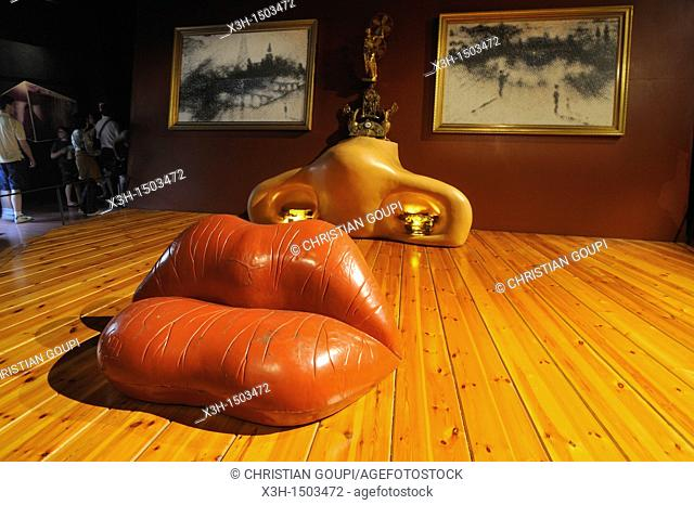 Mae West room, Dali Theatre and Museum, Figueres Costa Brava, Catalonia, Spain, Europe