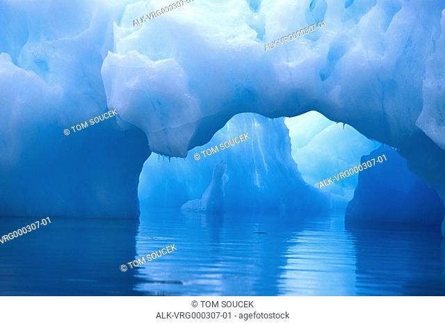 Glacial blue icebergs Weddell Sea South Atlantic Ocean Antarctica Summer