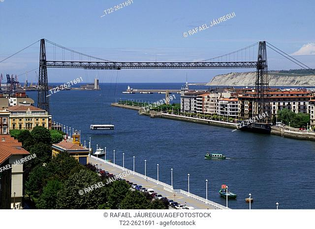 Portugalete (Basque Country) Spain. Suspension Bridge Portugalete