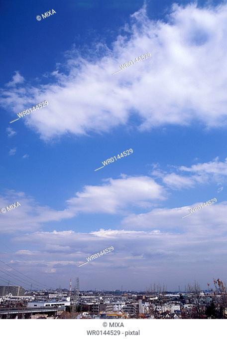 Altocumulus and cirocumulus clouds
